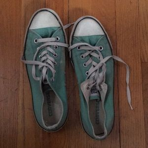 Used teal Converse low tops